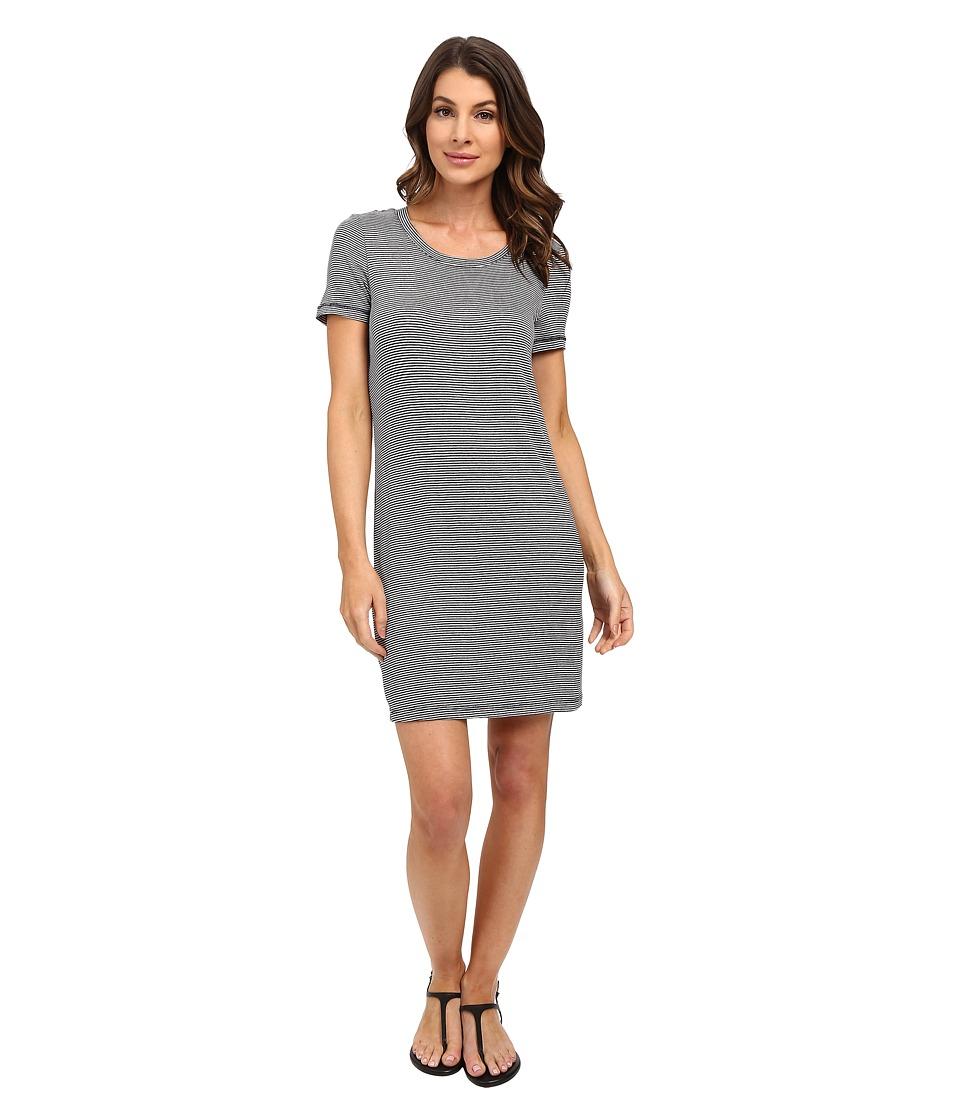 Splendid - Winward Stripe Micro Stripe Dress (Navy) Women