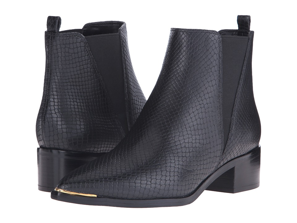 Marc Fisher LTD - Yale (Black Embossed Leather) Women's Dress Pull-on Boots