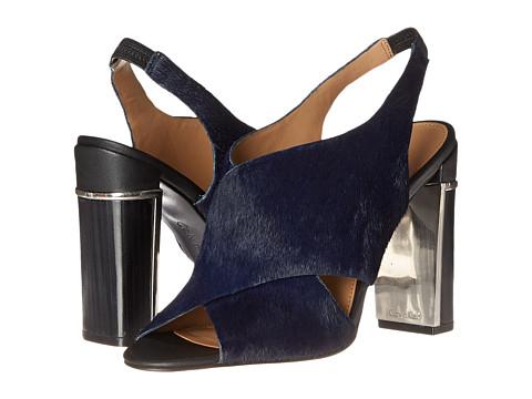 Calvin Klein - Karel (Indigo/Black Haircalf/Leather) Women's Shoes