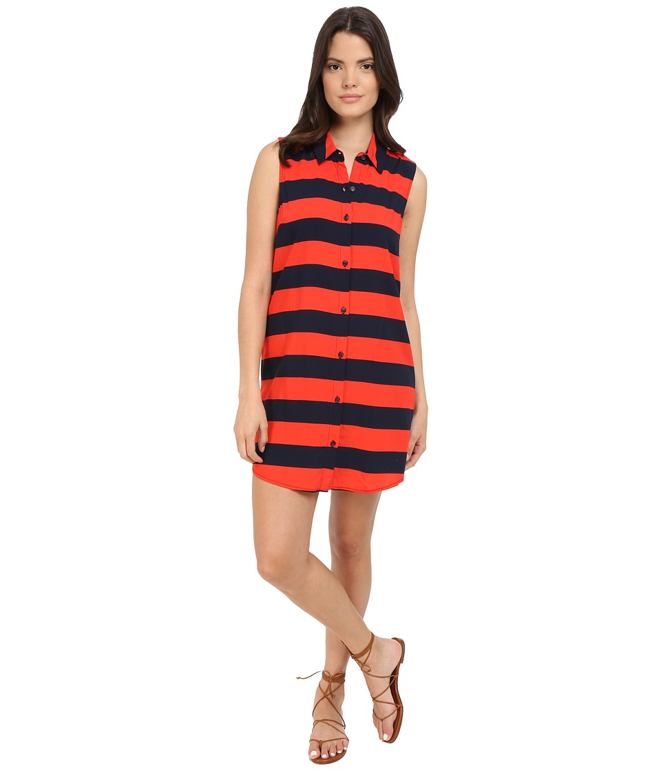 Splendid - Capistan Rugby Stripe Dress (Navy/Fiery Red) Women's Dress