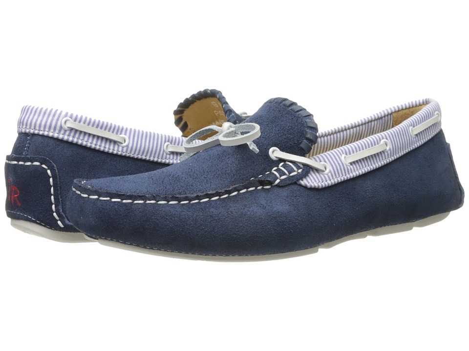 Jack Rogers - Paxton Suede (Blue) Men's Slip on Shoes
