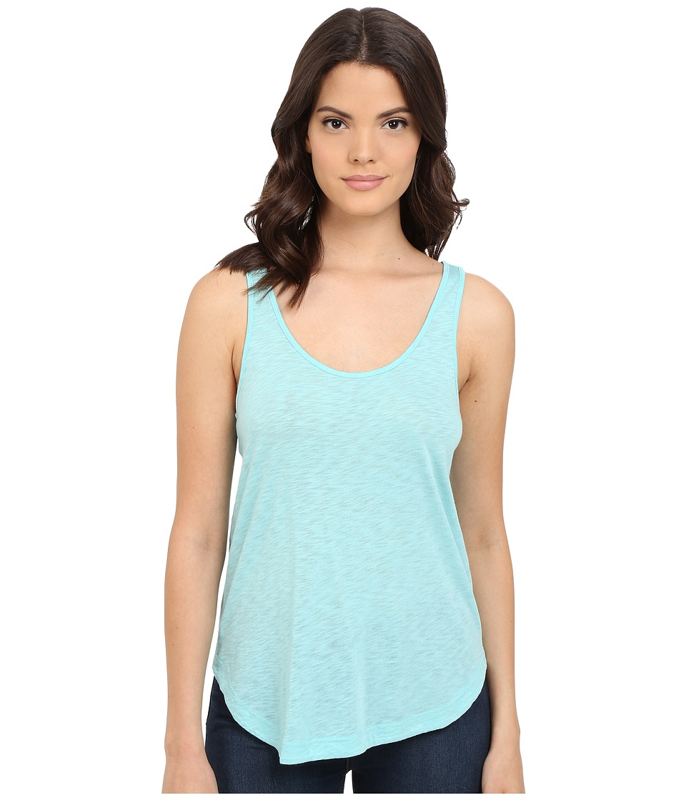 Splendid - Slub Tee Crossback Tank Top (Blue Glass) Women's Sleeveless