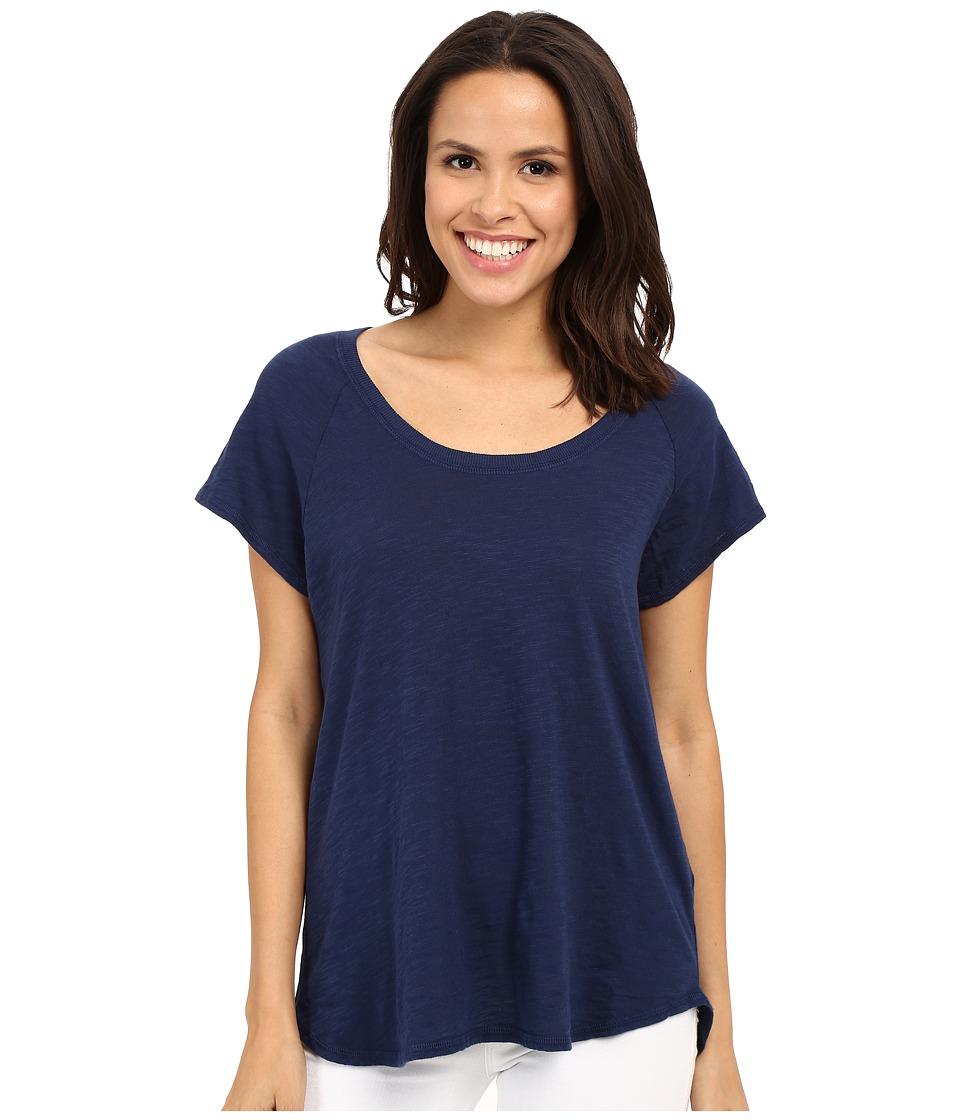 Allen Allen - Short Sleeve Raglan Tee (Lapis) Women's Short Sleeve Pullover