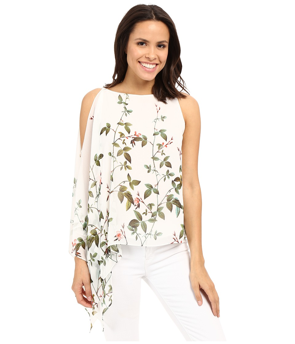 Adrianna Papell - Asymmetrical Scarf Print Top (Ivory Multi) Women's Blouse