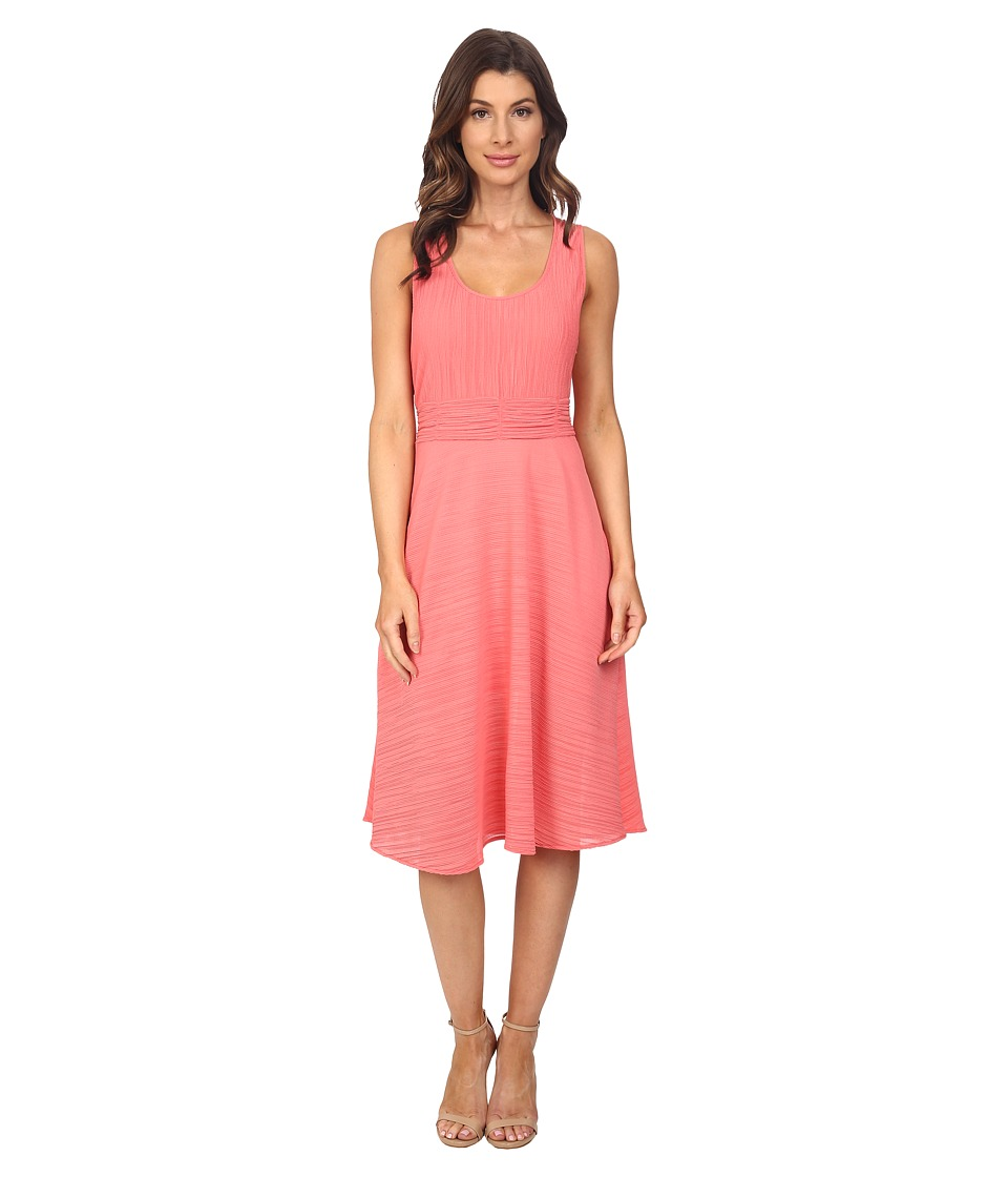 Adrianna Papell - Scoop Neck Handkerchief Dress (Light Coral) Women's Dress