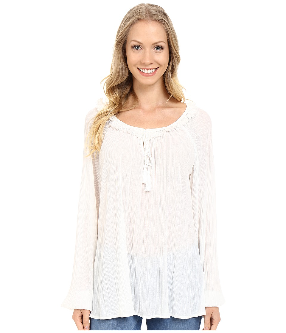 Adrianna Papell - Long Sleeve Peasant Top (Ivory) Women's Blouse
