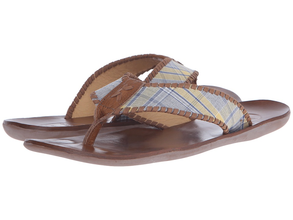 Jack Rogers Sullivan Plaid (Yellow/Navy) Men's Sandals