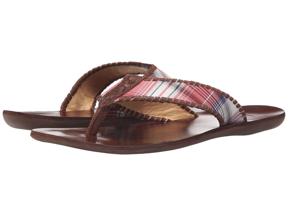 Jack Rogers Sullivan Plaid (Red/Navy) Men