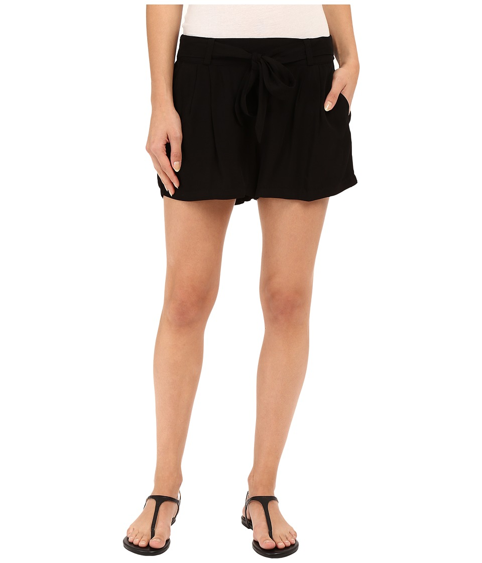 Splendid - Rayon Voile Tie Shorts (Black) Women's Shorts
