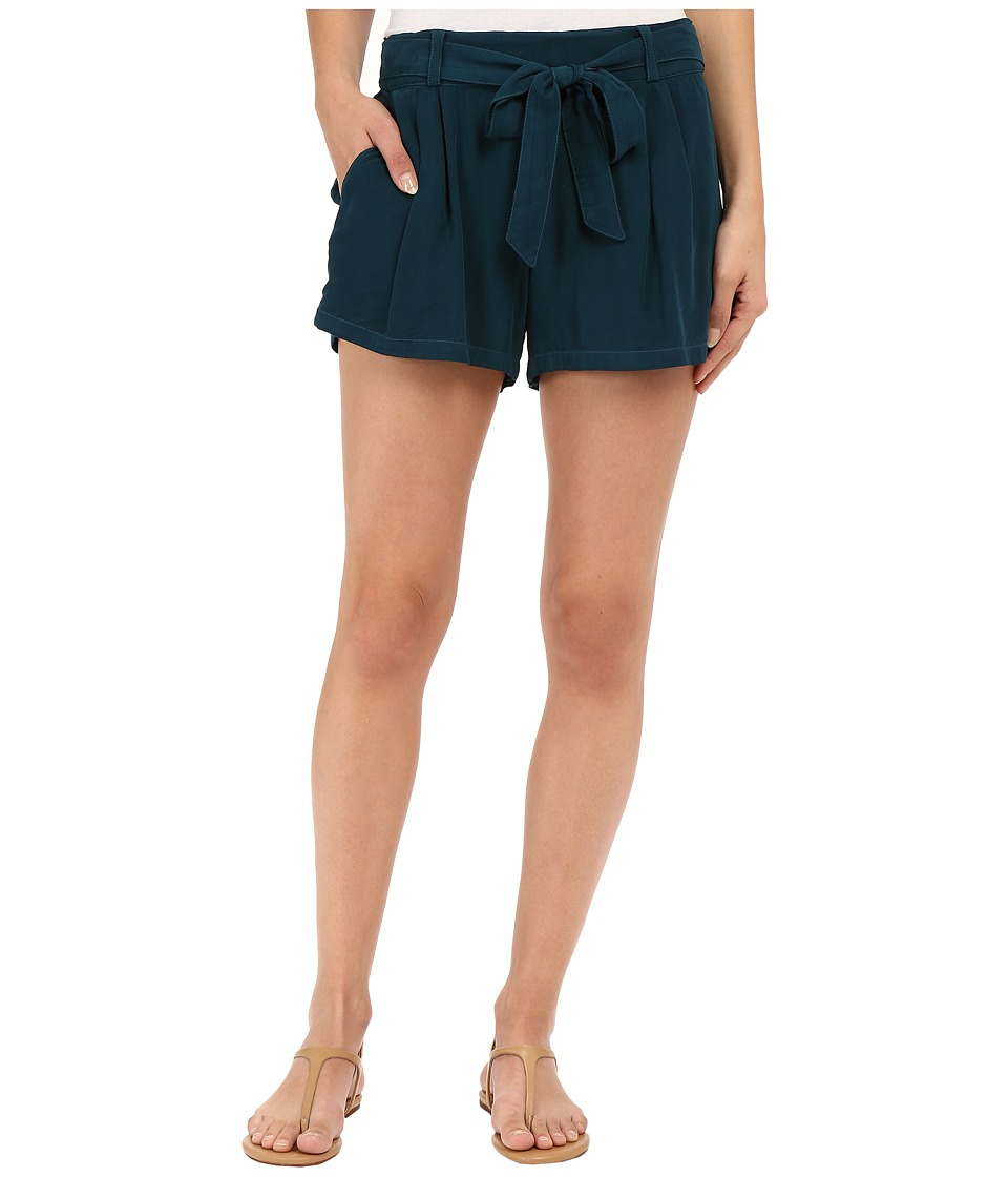 Splendid - Rayon Voile Tie Shorts (Antique Green) Women's Shorts