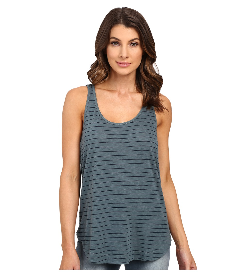 Splendid - Catalina Stripe Jersey Tank Top (Antique Green) Women's Sleeveless