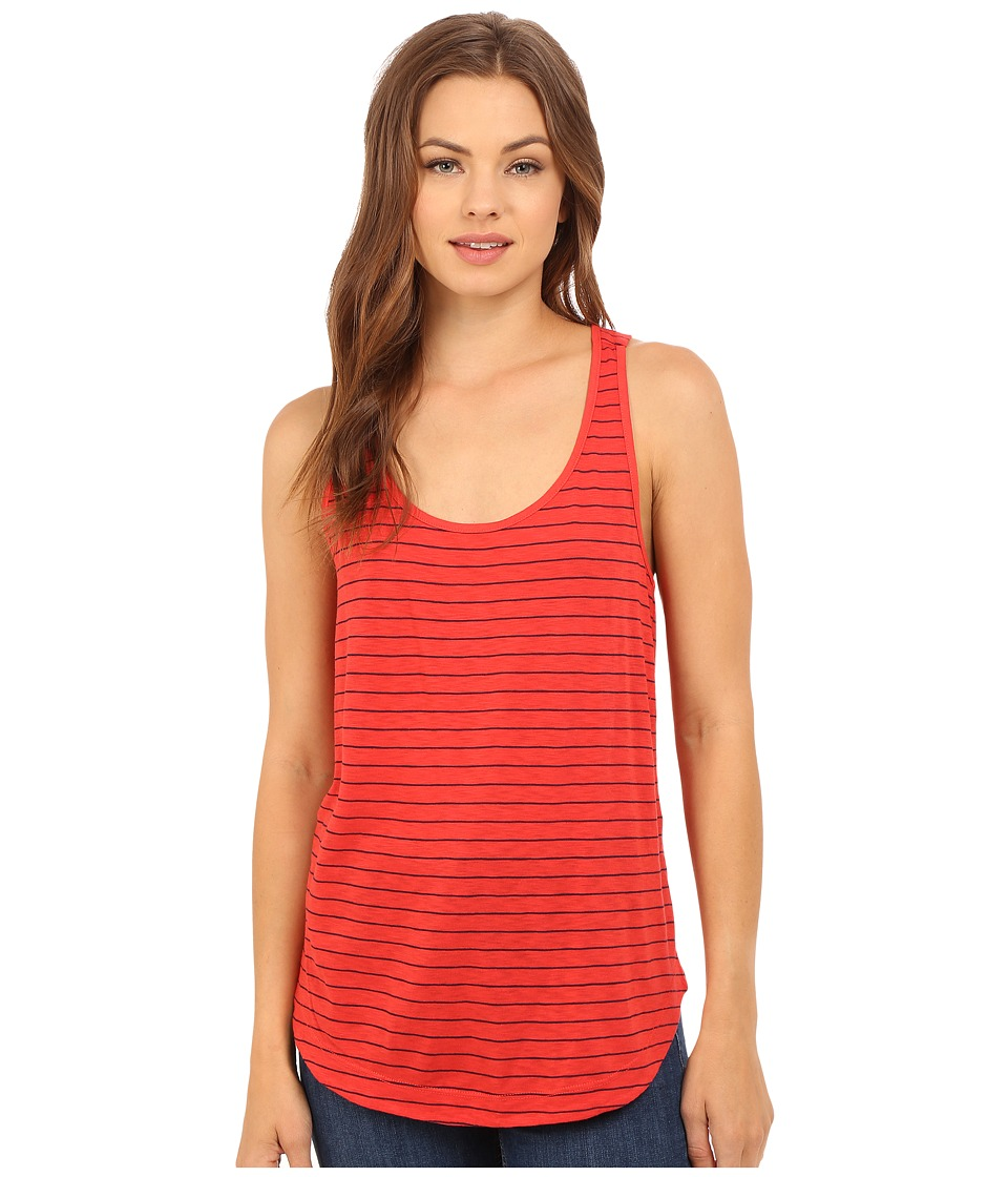 Splendid - Catalina Stripe Jersey Tank Top (Fiery Red) Women's Sleeveless