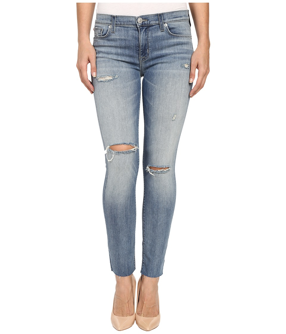 Hudson - Shine Mid-Rise Ankle Skinny Raw Hem in Rescue Mission (Rescue Mission) Women's Jeans