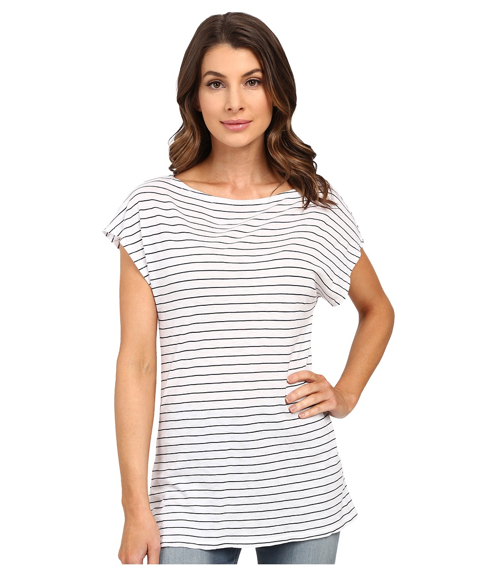 Splendid - Catalina Stripe Tunic Tee (White) Women's Short Sleeve Pullover