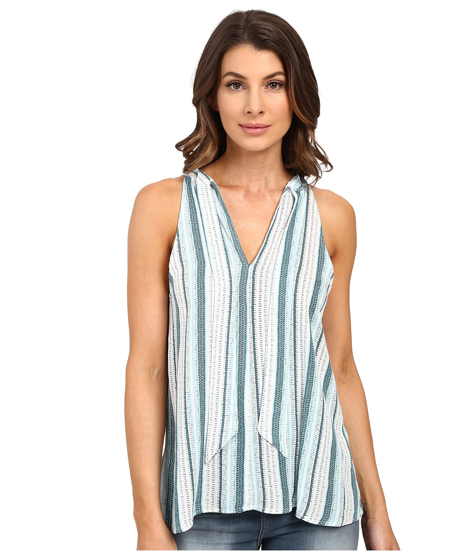 Splendid - Beachcomber Stripe Tank Top (Antique Green/Blue Glass) Women's Sleeveless