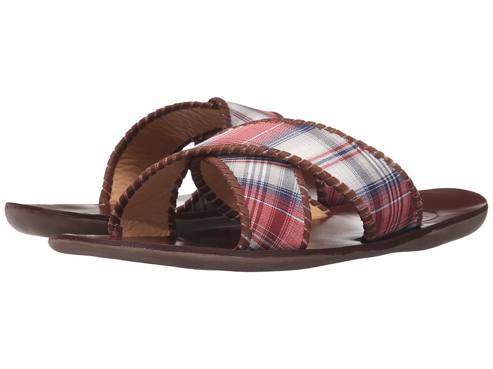 Jack Rogers Kane Plaid (Red/Navy) Men