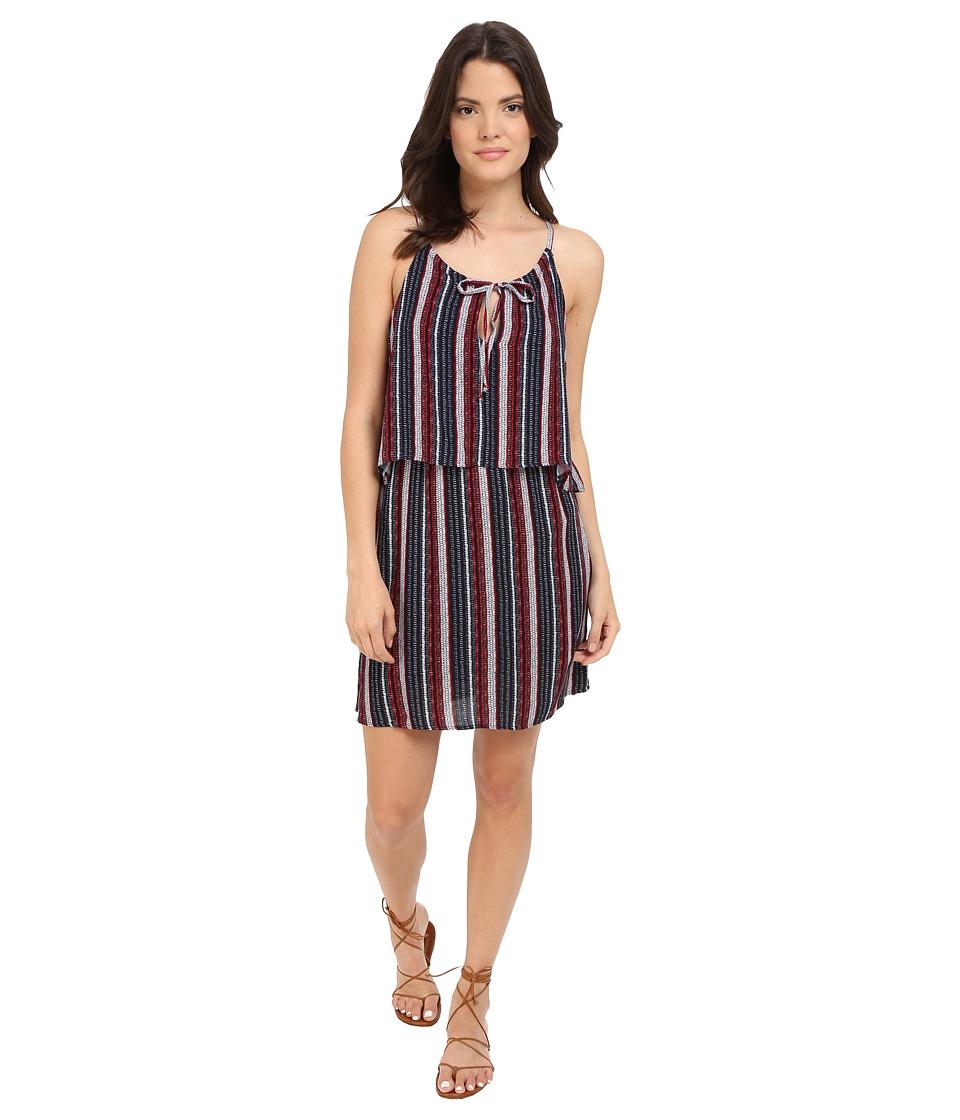 Splendid - Beachcomber Stripe Dress (Fiery Red/Navy) Women's Dress