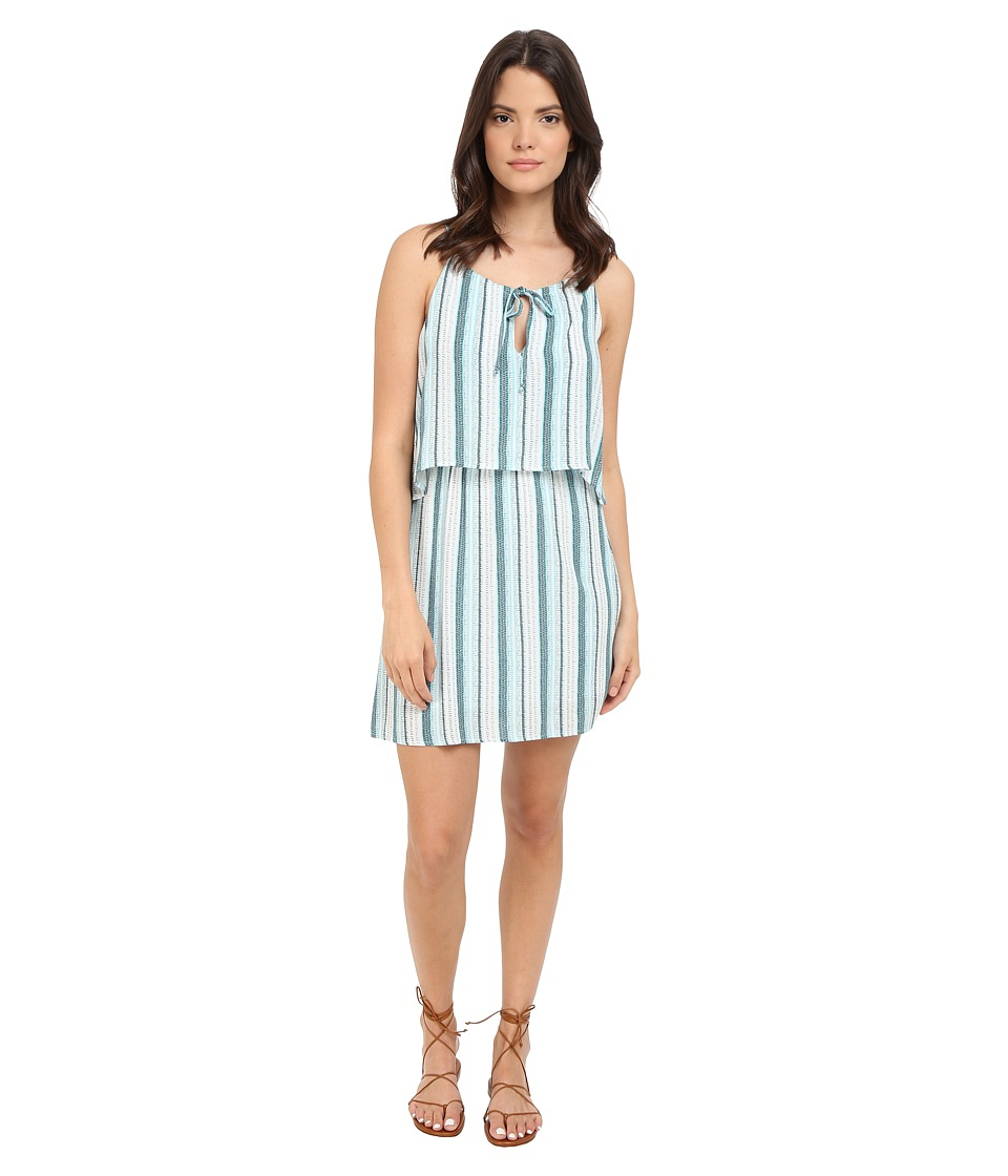 Splendid - Beachcomber Stripe Dress (Antique Green/Blue Glass) Women's Dress