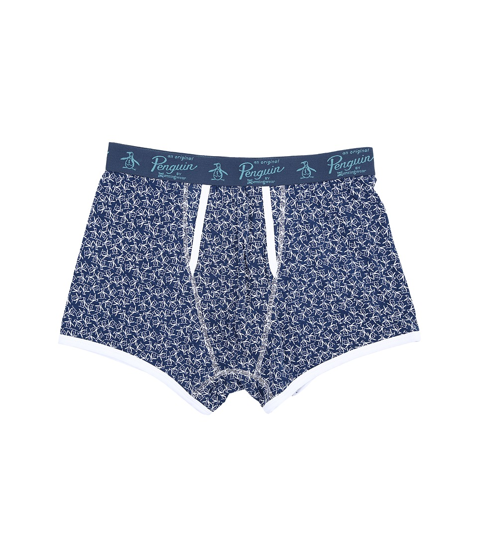 Original Penguin - Single Trunk (Dark Denim Toss) Men's Underwear