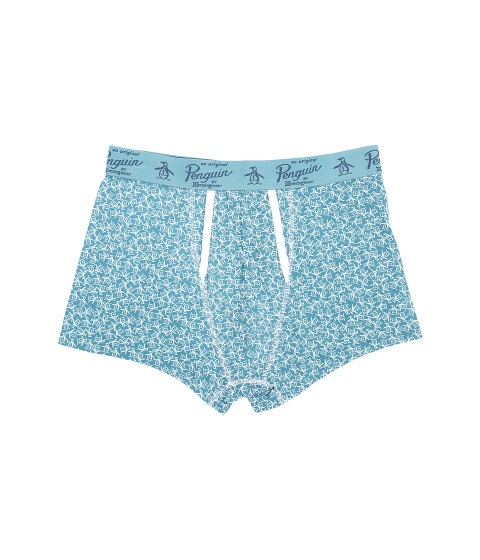 Original Penguin - Single Trunk (Brittany Blue Toss) Men's Underwear