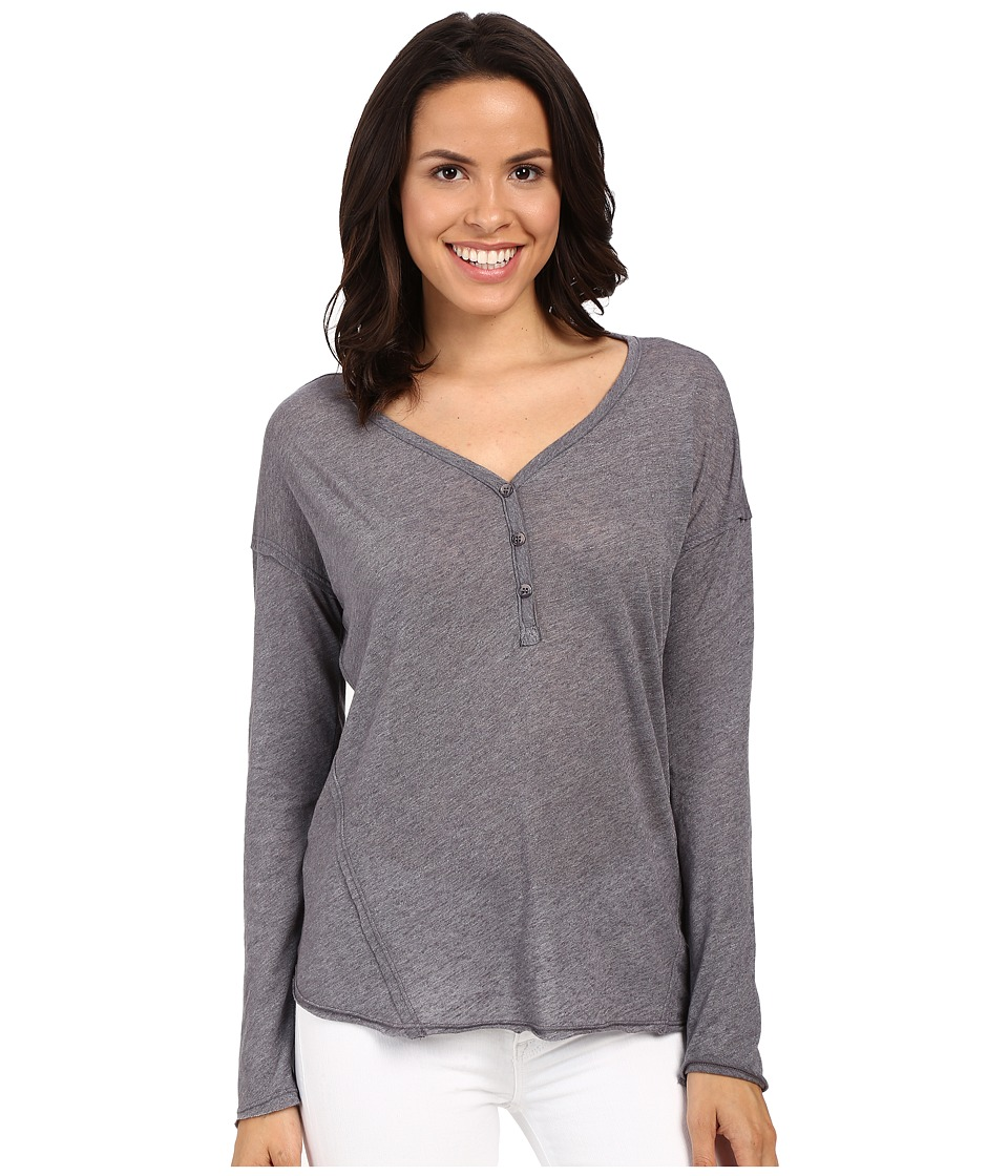 Splendid Heathered Henley (Shadow) Women's Clothing
