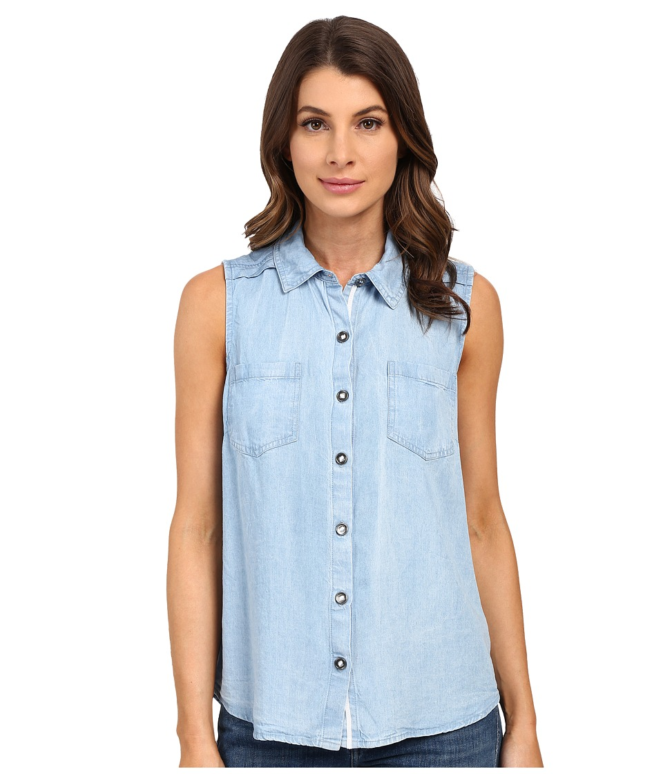 Splendid - Chambray Tank Top (Light Wash) Women's Sleeveless