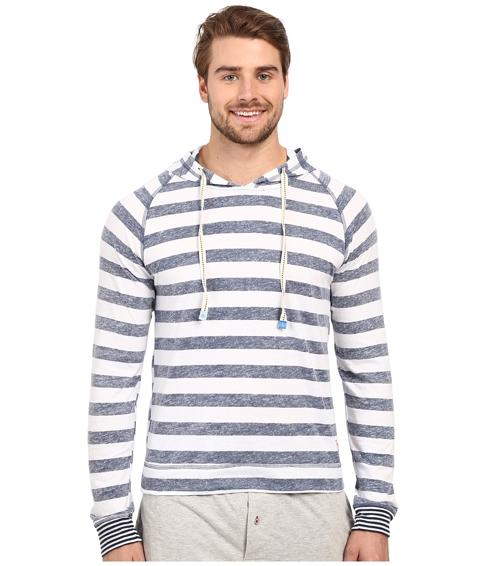 Original Penguin - Lounge Hoodie (Dress Blue Ace Stripe) Men's Sweatshirt