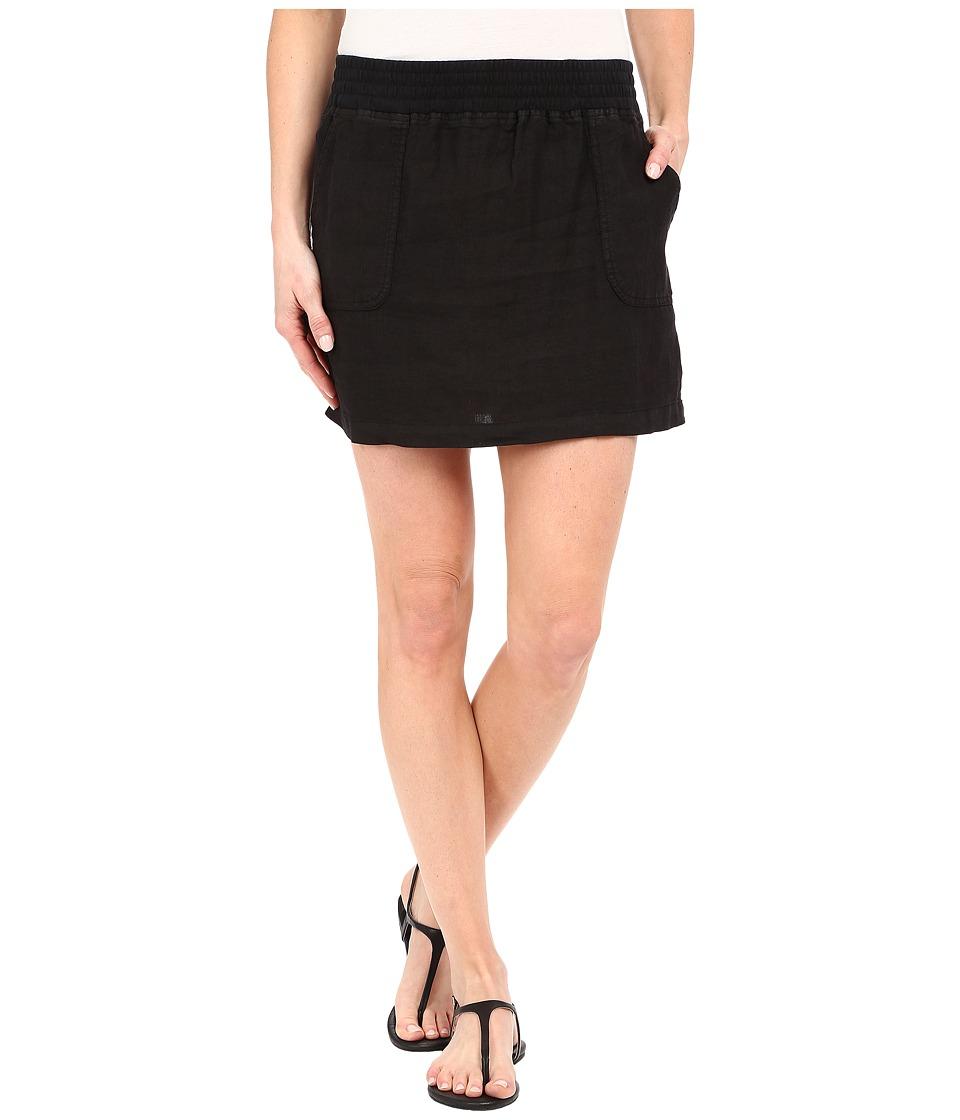 Allen Allen - Short Cargo Skirt (Black) Women's Skirt