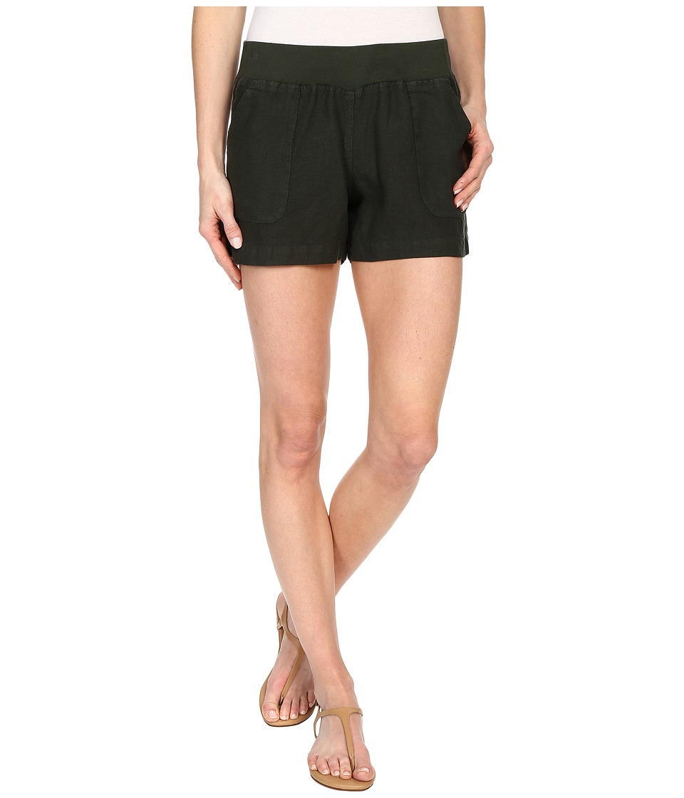 Allen Allen - Linen Short (Dark Olive) Women's Shorts