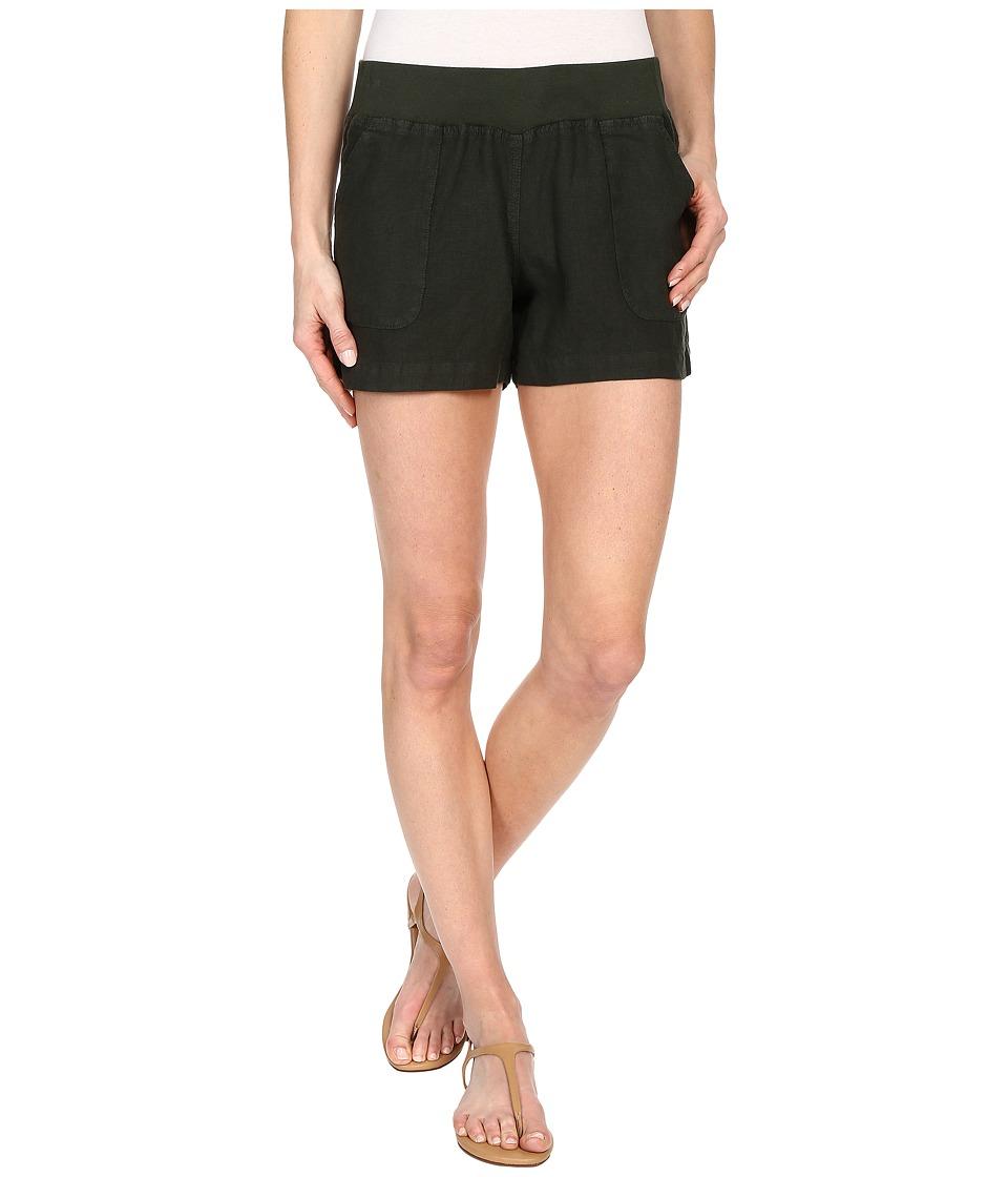 Allen Allen - Linen Short (Dark Olive) Women's Shorts