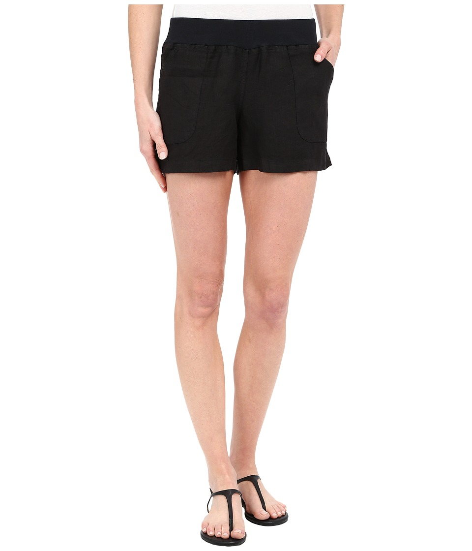 Allen Allen - Linen Short (Black) Women's Shorts