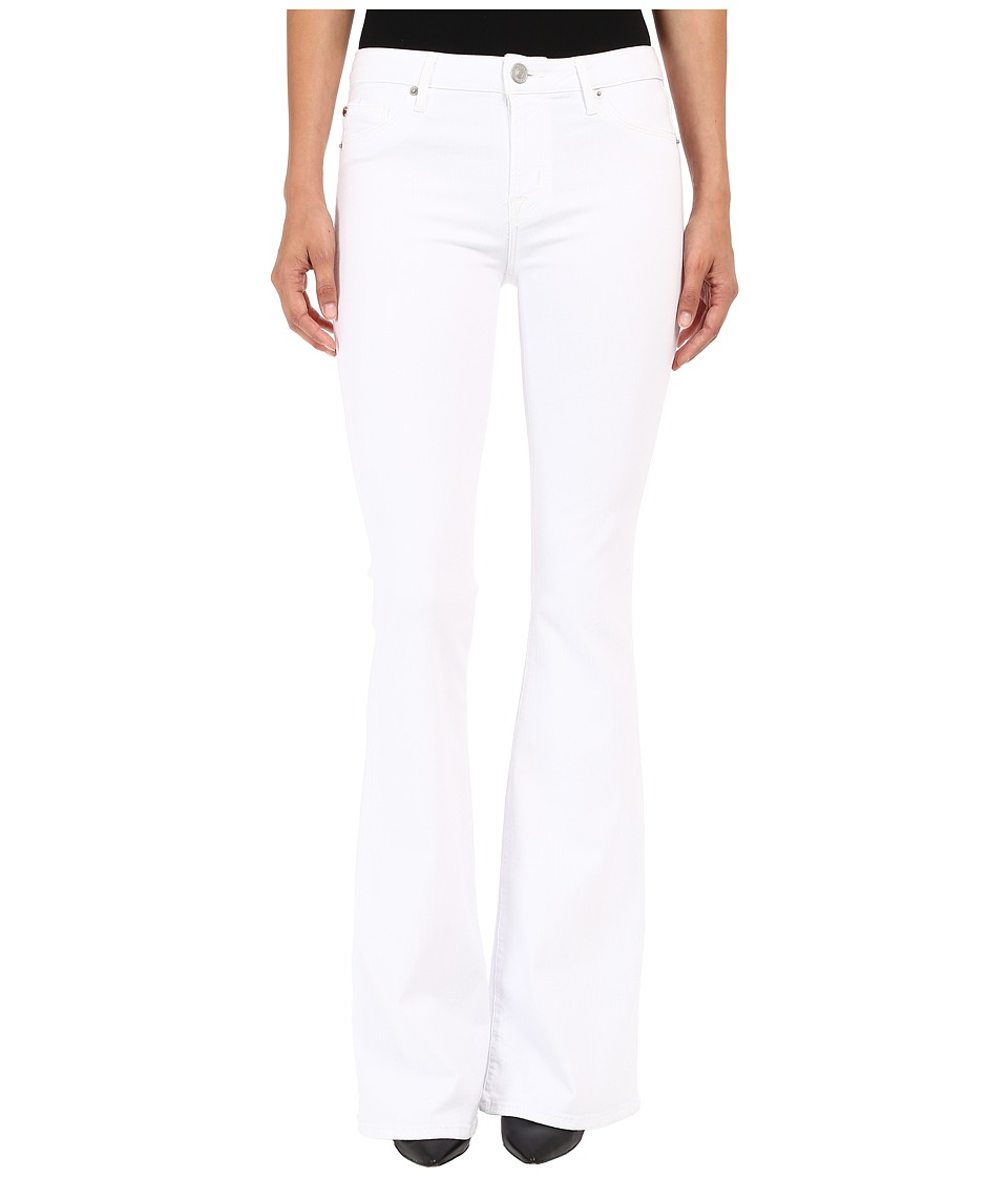 Hudson - Mia Five-Pocket Mid-Rise Flare in White 2 (White 2) Women's Jeans