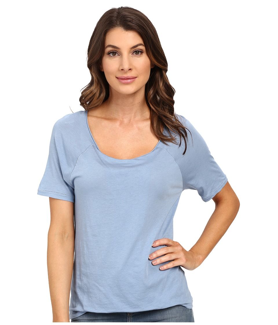 Splendid - Very Light Jersey Tucked Tee (Faded Denim) Women's T Shirt