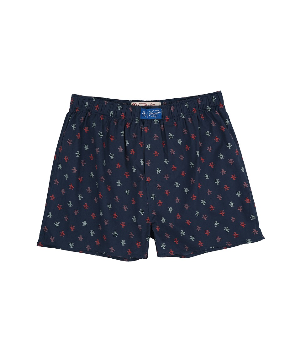 Original Penguin - Penguin Woven Boxer (Dark Denim) Men's Underwear