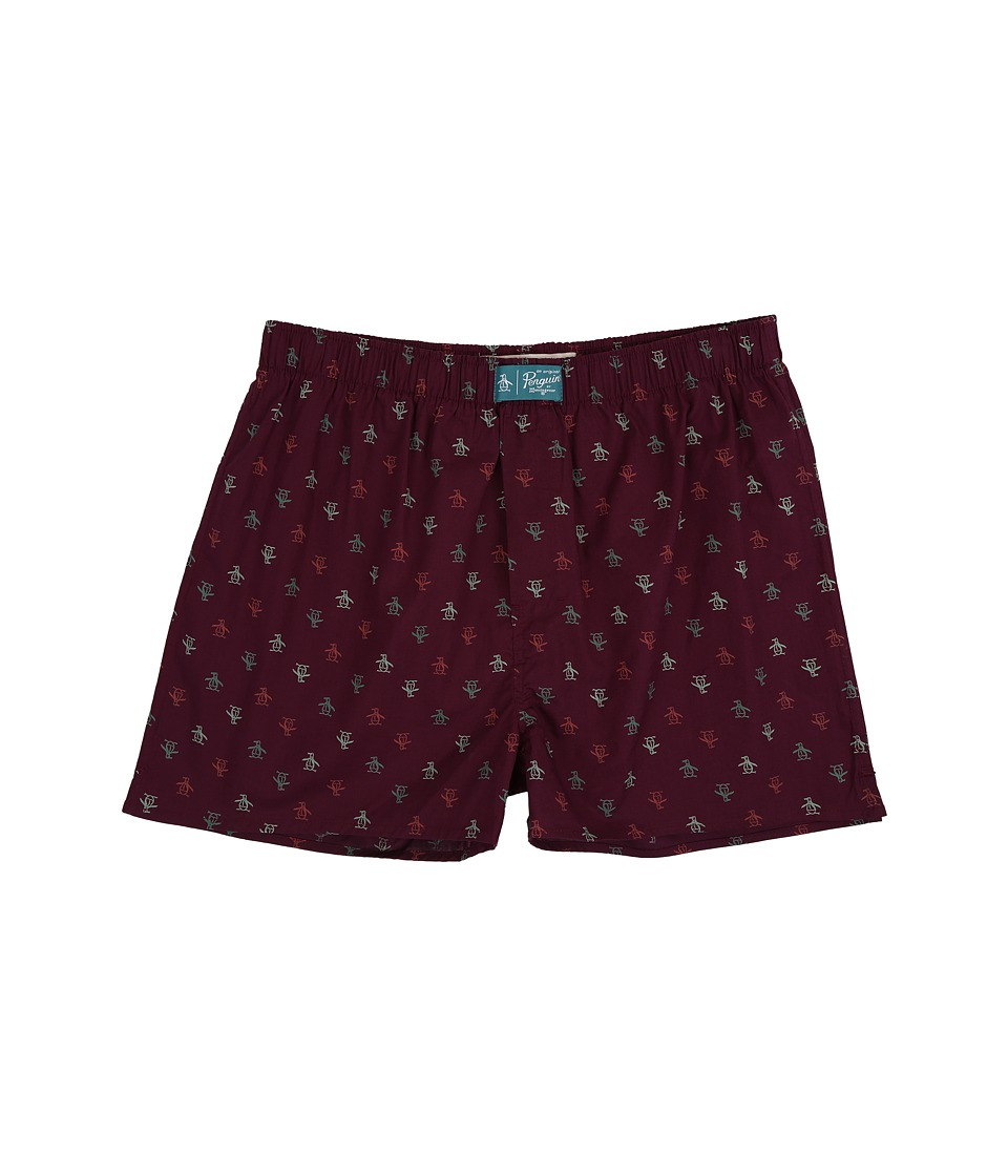 Original Penguin - Penguin Woven Boxer (Grape Wine) Men's Underwear