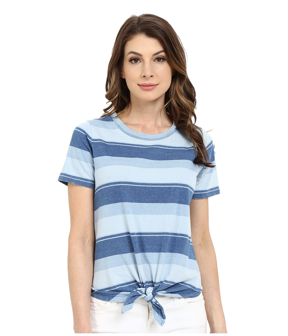 Joe's Jeans - Ventura Tee (Faded Indigo Stripe) Women's T Shirt