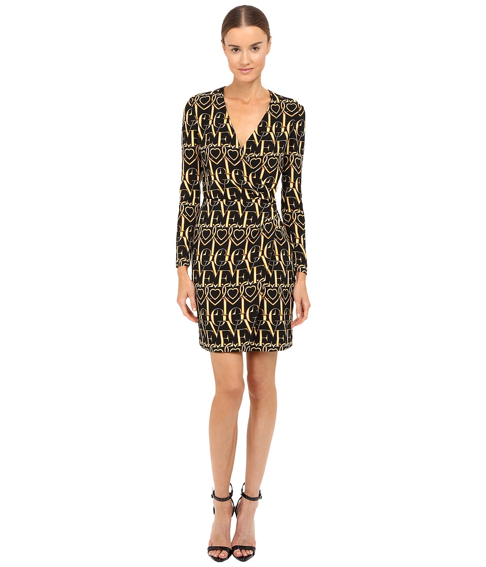 LOVE Moschino - Love Dress (Black/Gold) Women's Dress