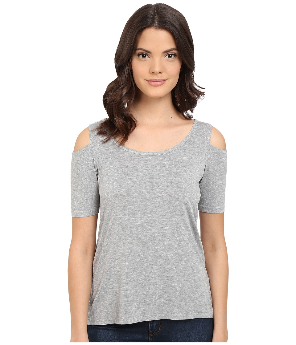 Splendid - Rayon Jersey Cold Shoulder (Heather Grey) Women's Clothing