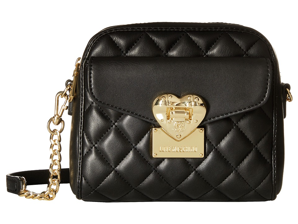 LOVE Moschino - Square Quilted Crossbody (Black) Cross Body Handbags