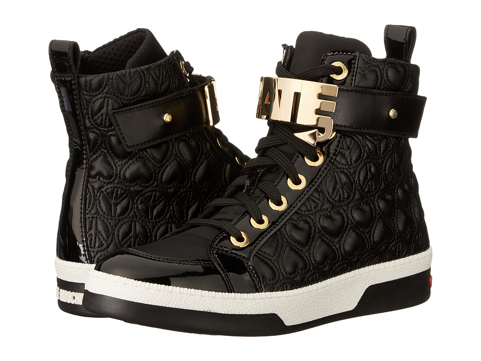LOVE Moschino - Love Hate High Tops (Black) Women's Shoes