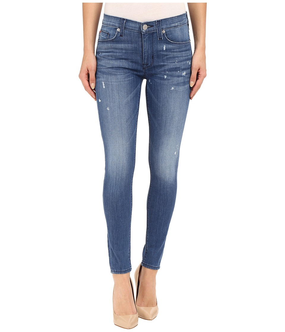 Hudson - Nico Mid-Rise Ankle Skinny with Distress in Wipeout (Wipeout) Women's Jeans
