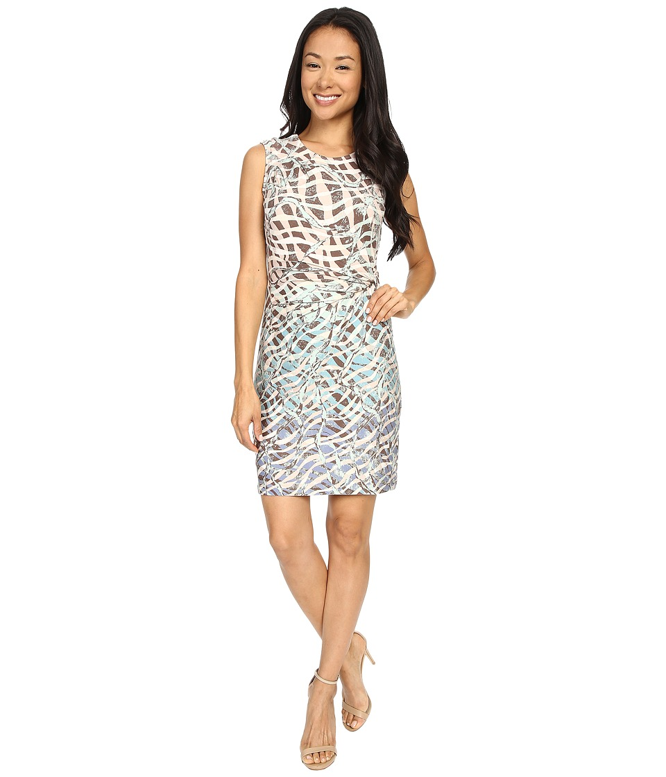 NIC+ZOE - Petite Spring It On Twist Dress (Multi) Women's Dress