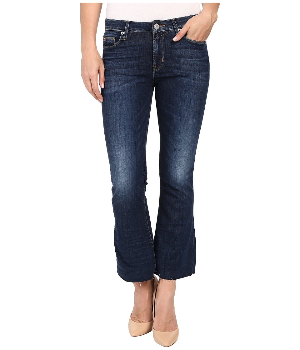 Hudson - Mia Five-Pocket Mid-Rise Flare Crop with Raw Hem in Battalion (Battalion) Women's Jeans