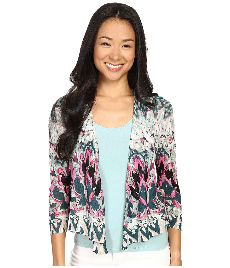 NIC+ZOE - Petite Rosette 4 Way Cardy (Multi) Women's Sweater