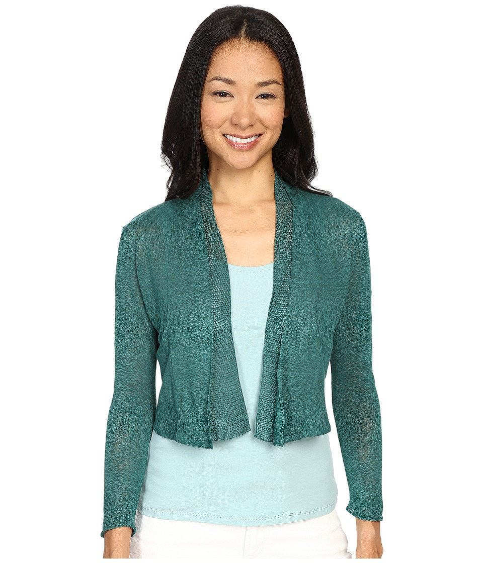 NIC+ZOE - Petite Simply Sweet Cardy (Bayberry) Women's Sweater