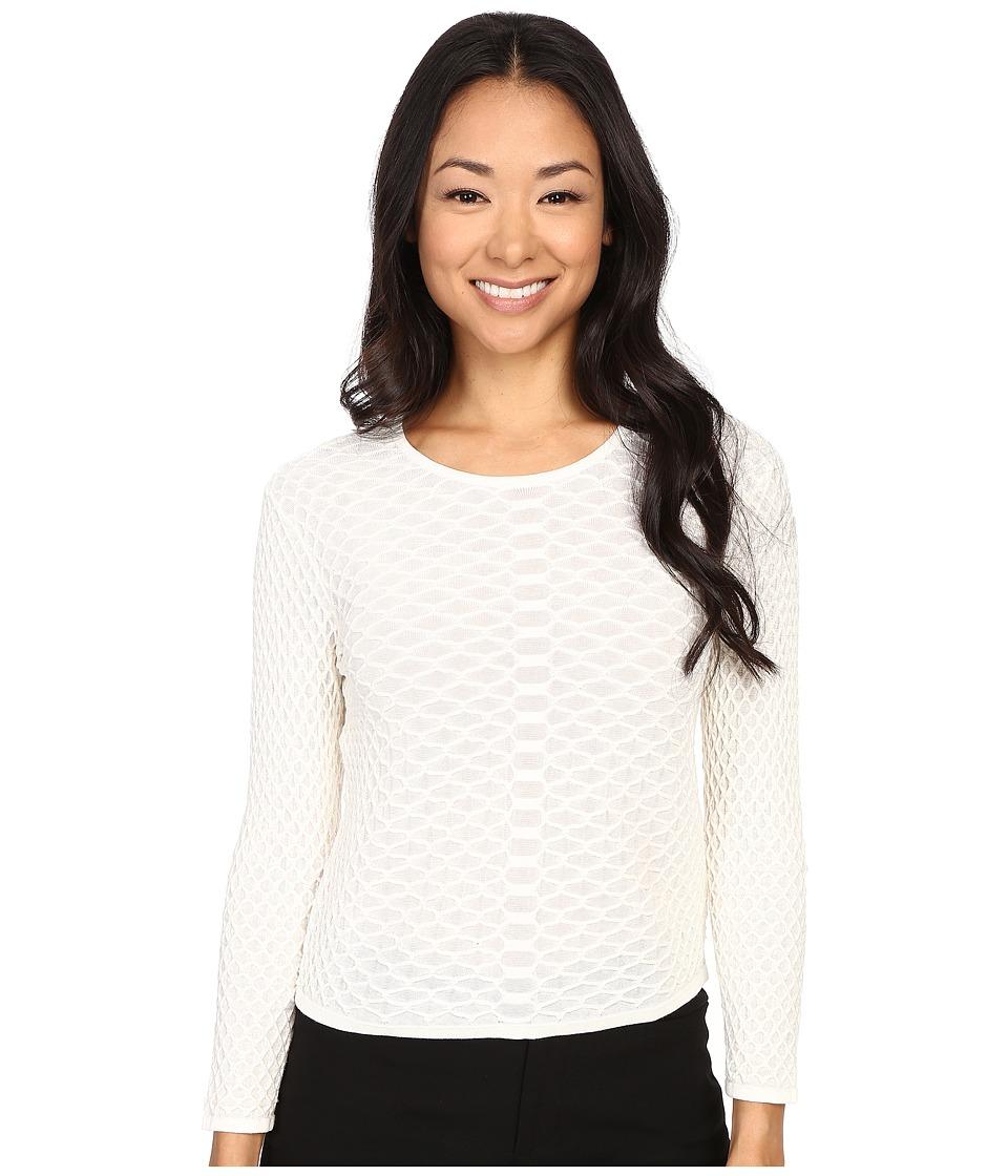 NIC+ZOE - Petite Goldie Top (Milk White) Women's Sweater