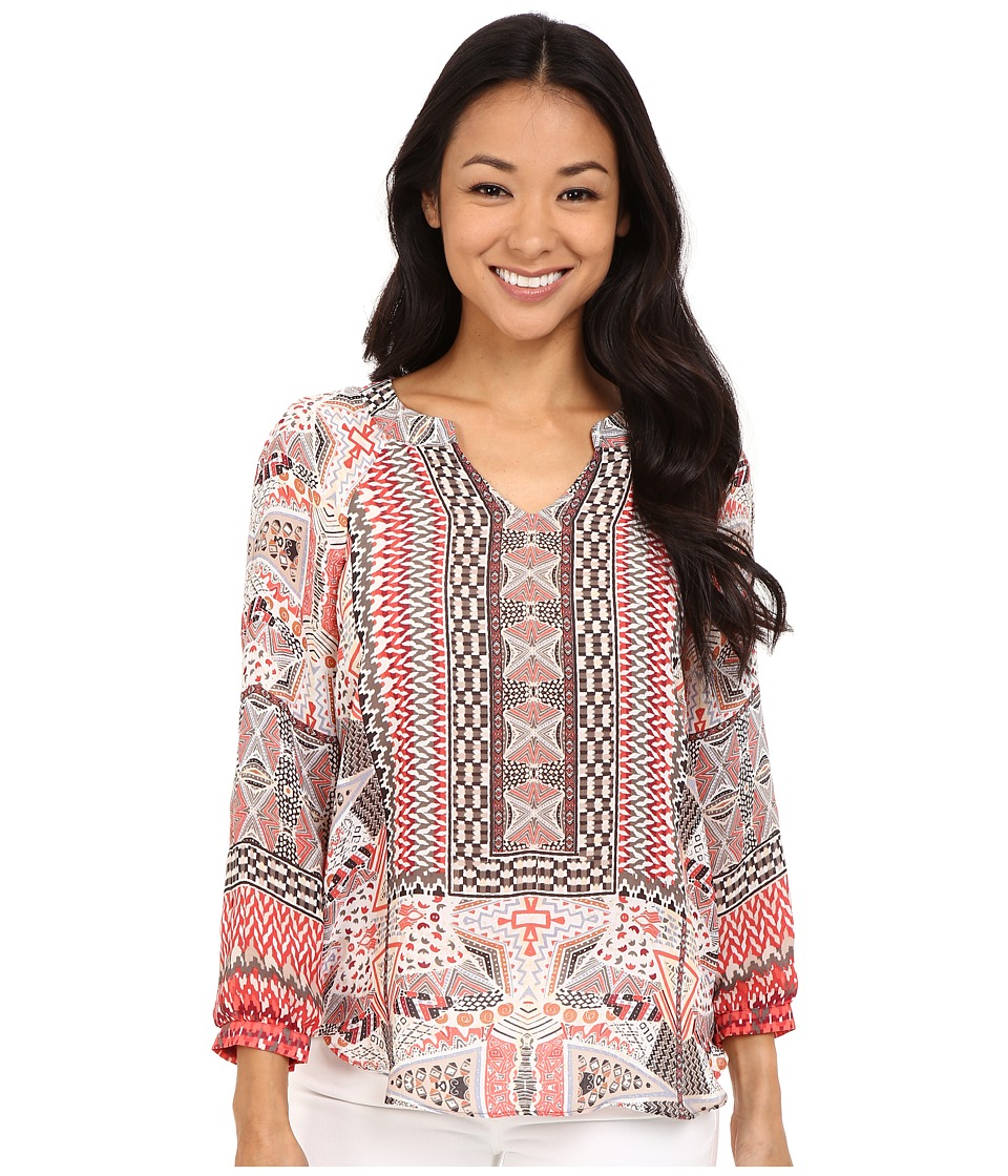 NIC+ZOE - Petite Prismatic Top (Multi) Women's Clothing
