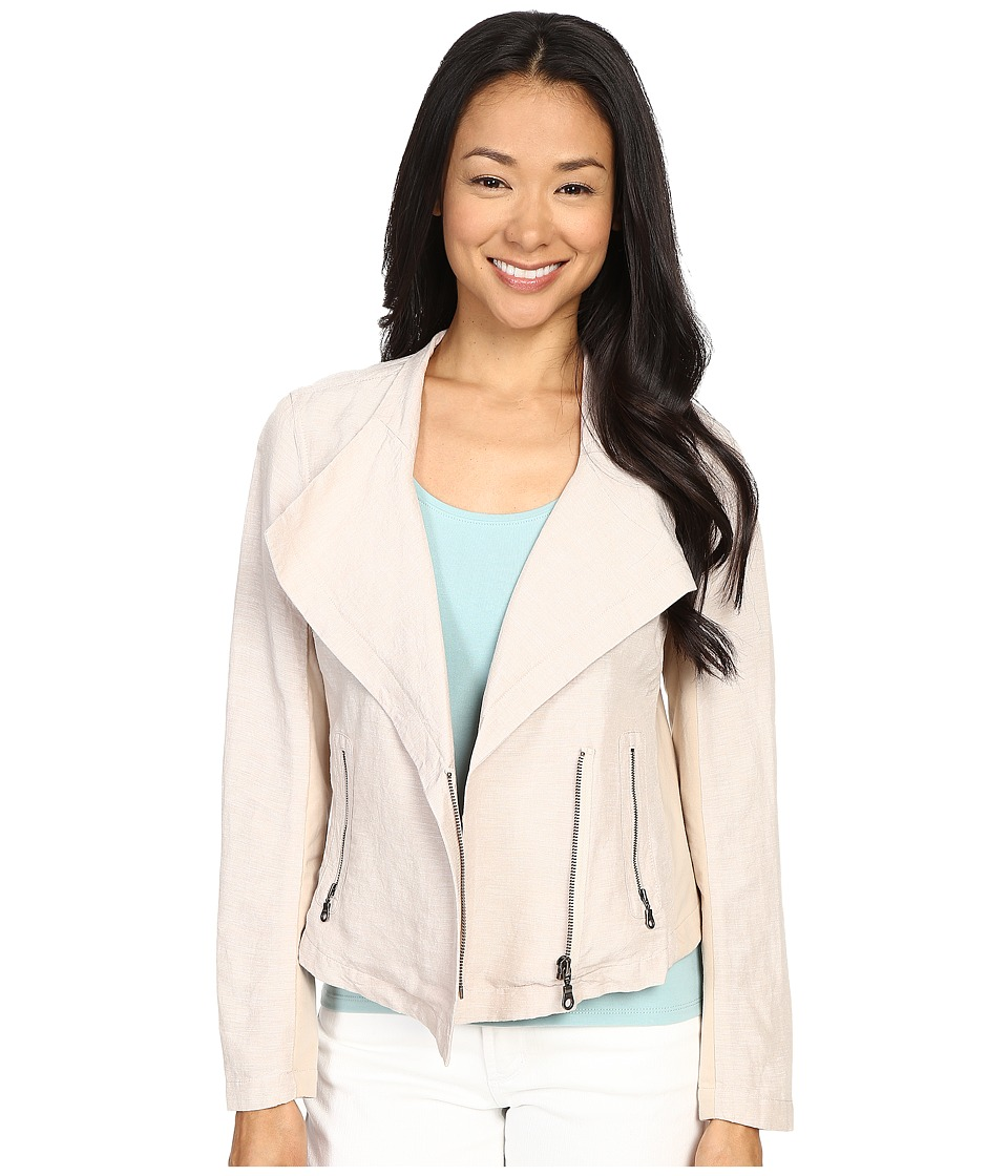 NIC+ZOE - Petite Sundown Moto Jacket (Fawn Mix) Women's Coat