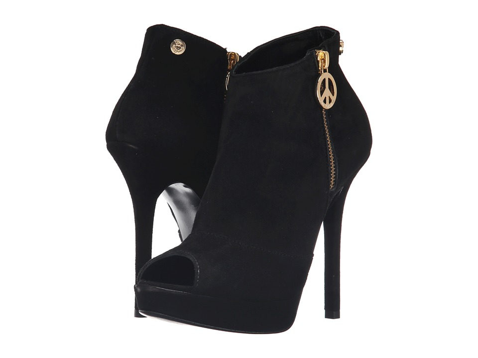 LOVE Moschino Peace Open Toe Bootie (Black) Women