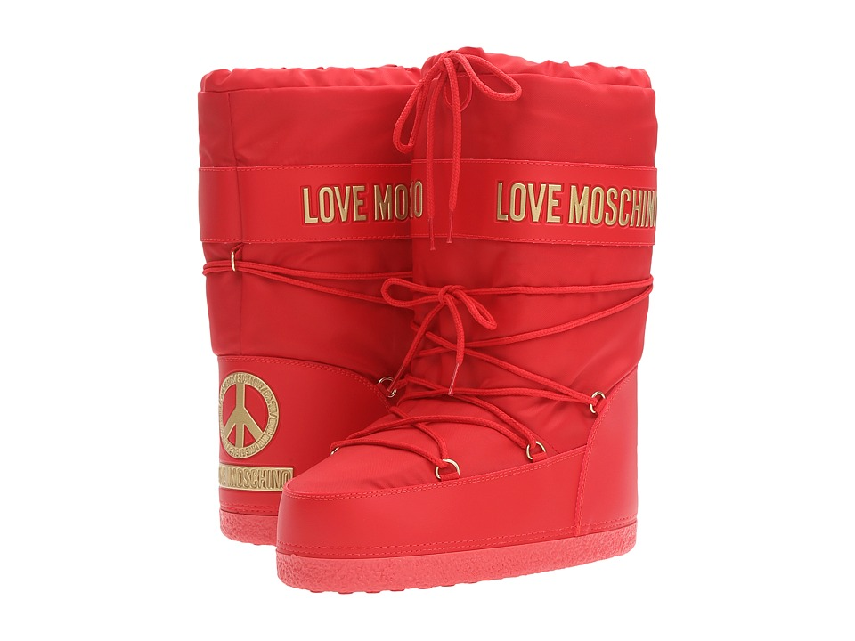 LOVE Moschino - Logo Moon Boot (Red) Women's Boots